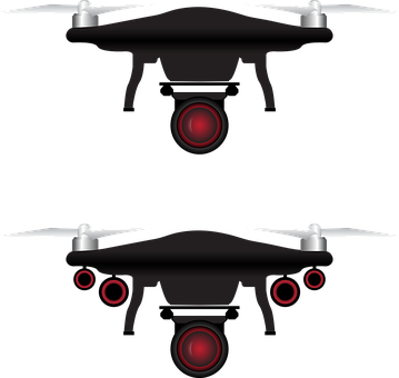 Drone, Icon, Camera, Aerial, Remote, White, Aircraft