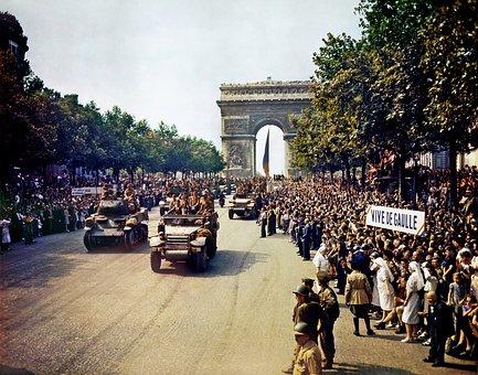 Arc De Triomphe, Paris, Avenue Des Champs Elysées