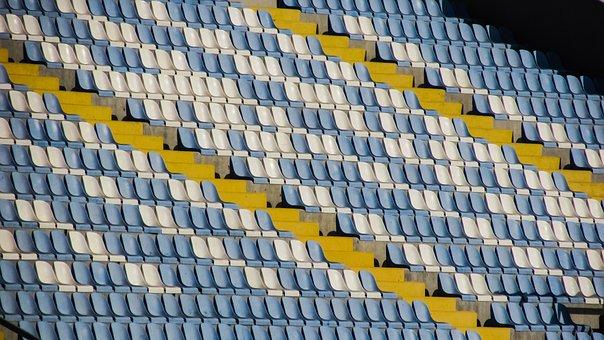 Stand, Seats, Chair, Stadium, Empty, Football, Plastic