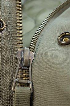 Zip, Closure, Hack, Detail, Jacket, Olive, Press-studs