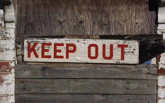 Keep Out, Sign, Warning, Danger, Safety, Derelict
