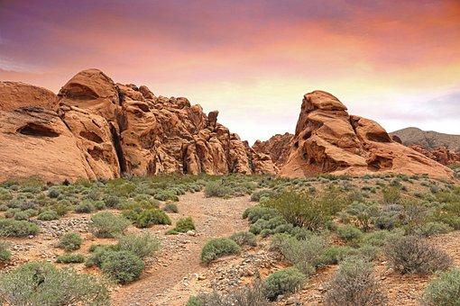 Valley Of Fire, Las Vegas, Desert, Fire, Rock, Valley