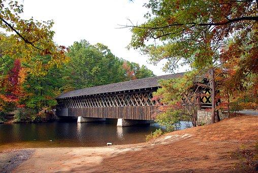 Covered Bridge, Stone Mountain, Georgia, Structure
