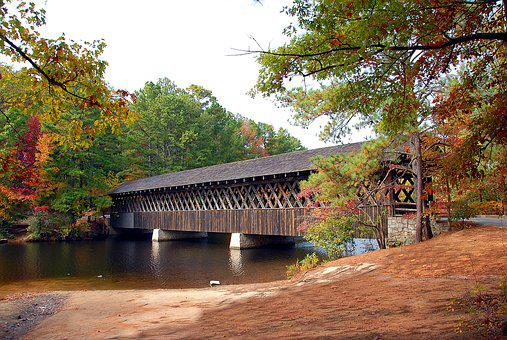 Covered Bridge, Stone Mountain, Georgia, Structure