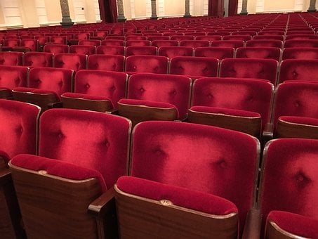Red, Chair, Concert Hall, Theater, Sit, Seat, Going Out