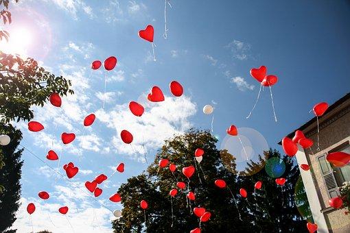 Balloon, Heart, Romance, Red, Romantic, Heart Shaped