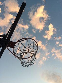 Basketball, Sky, Hoop, Net, Rim, Emotion