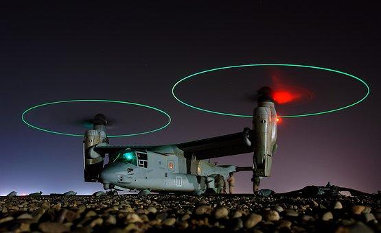 Aircraft, Landing, Ufo, Osprey, V 22, Futuristic