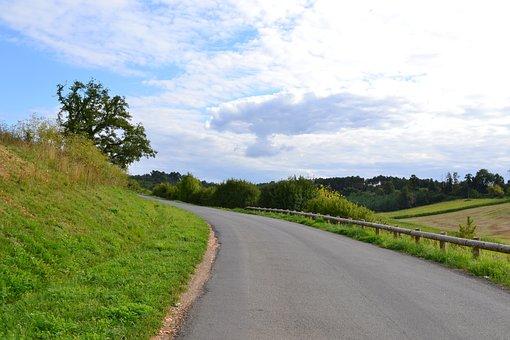 Road, Path, Nature, Landscape, Field, Summer, Sky