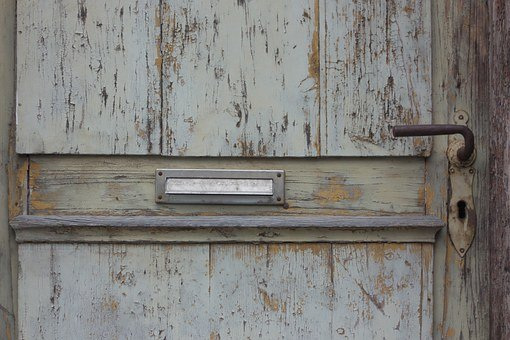 Door, Mailbox, Old, Wood, Wooden Door, Antique