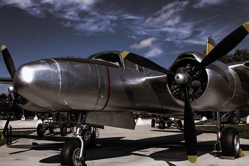A26 Invader, Wwii, Warplane, Flight, Aviation, Military