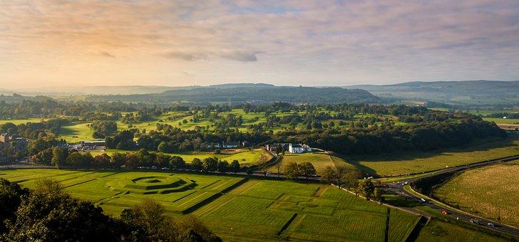 Stirling, Stirlingský Castle, Meadows, Pasture, Nature