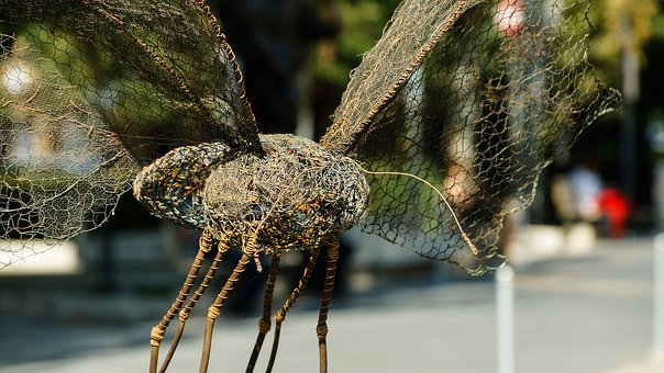 Sculpture, Insect, Butterfly, Art, Wire, Net, Fly, Bee