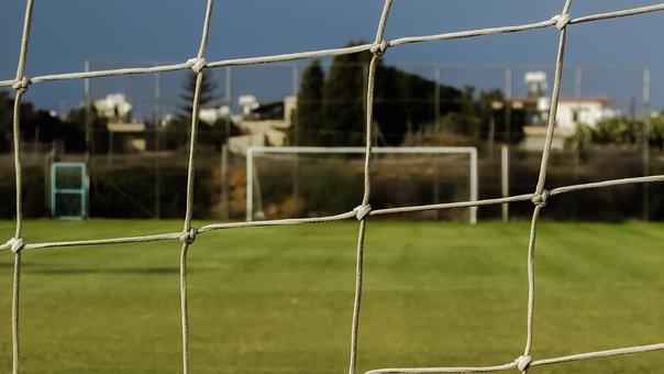 Net, Netting, Football Ground, Grass, Soccer, Football