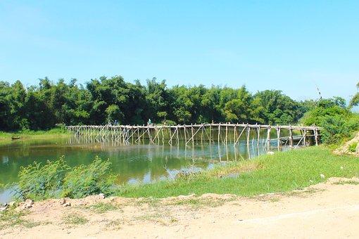 Bamboo Bridge, Net Long, Quang Ngai, Wood, Handmade