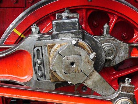 Steam Locomotive, Blowing Axis, Pivot, Spoke Wheel