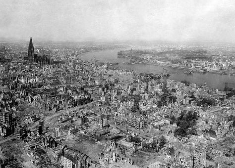 Cologne, Bombing, Destruction, War, Post War Period