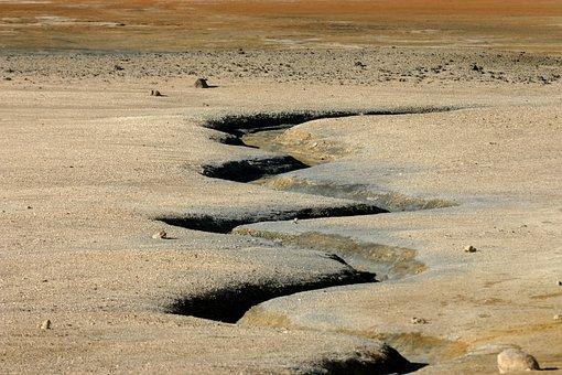 Desert, Desert Landscape, Canyon, River Bed, Arid, Dry