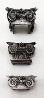 Roman Pillar, Pillar Tops, Classical Order, Engraved