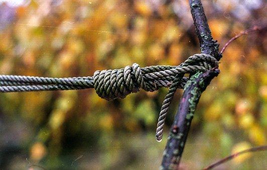 Knot, Rope, Tied, String, Symbol, Brown, Loop, End