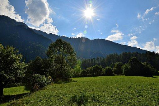 Sautens, Alm, Tyrol, Austria, Village, Mountains