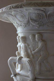Vase, Marble, Sculpture, St Petersburg Russia, Gatchina