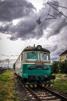 Train, Track, Railway, Station, Railroad Tracks, Wagon