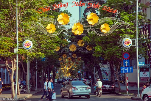Flower Street, Street, Lunar New Year, City, Streets