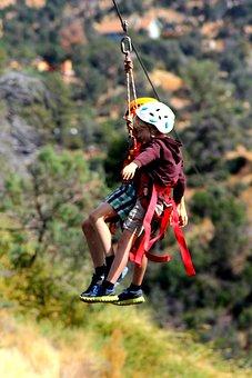 Zip Line, Children, Kids, Child, Active, Summer, Fun