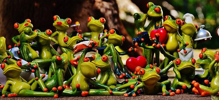 Frogs, Many, Group, Collection, Cute, Sweet, Mass