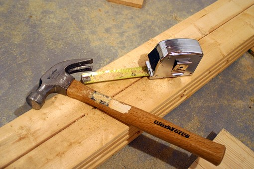 Tools, Hammer, Tape Measure, Construction