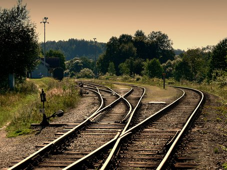 Track, Summer, Sázava, Ties, Czech Republic