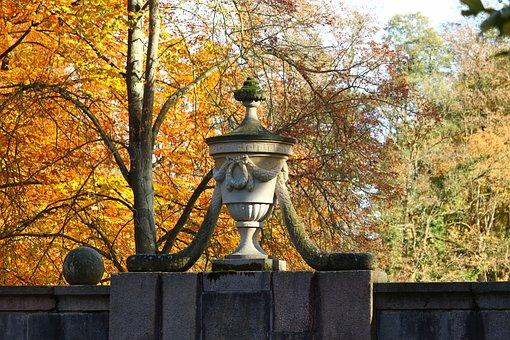 Vase, Sculpture, Castle Park, Ludwigslust-parchim, Art