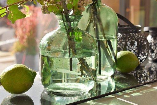 Deco, Decoration, Table Decorations, Vases, Fruits