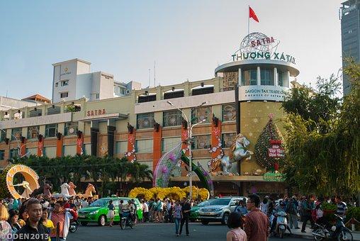 Shopping Mall, Center City, City, Saigon, Vietnam