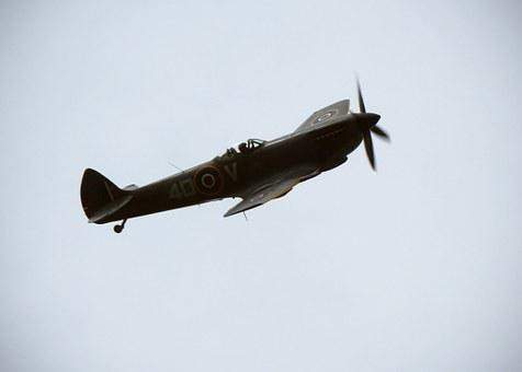 Spitfire, Plane, Av, Fighter, Airplane, War, Air