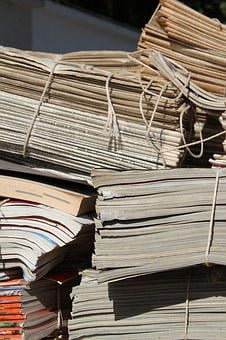 Waste Paper, Newspapers, Paper, Paper Pile, Waste