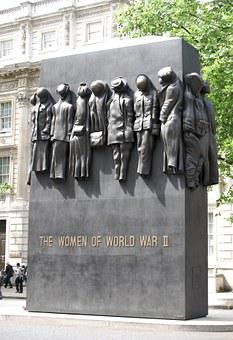 Memorial, Women, Whitehall, London, Ww2, Wwii