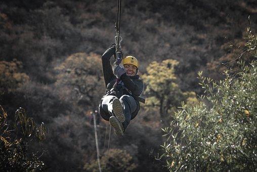 Zipline, Zip, Line, Ziplining, Adventure, Risky, Fun