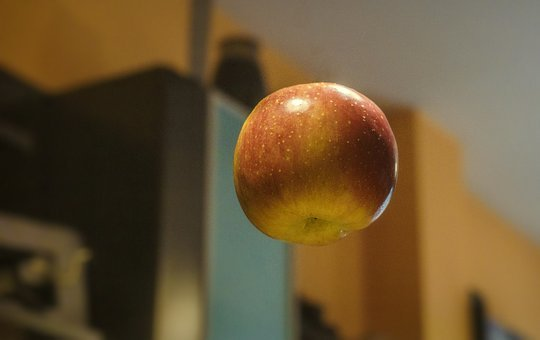 Apple, Levitation, Floating, Delicious, Vitamins