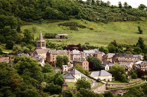 Village, Aveyron, Medieval, Castle, Architecture