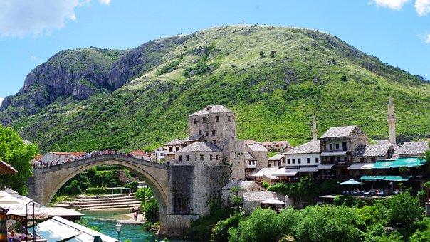 Mostar, Bridge, Bosnia, Balkan, Unesco