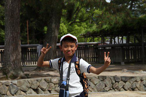 Boy, Japanese, School, Child, Kid, Happiness, Young