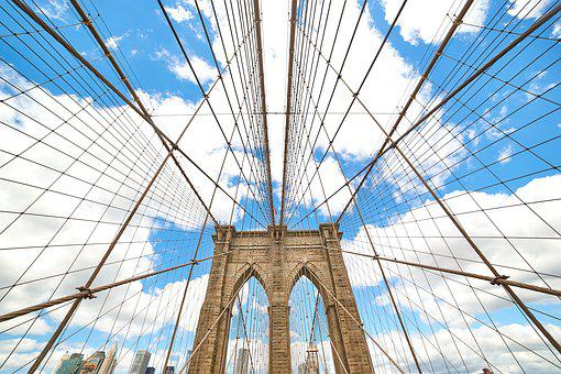 Brooklyn, Bridge, Architecture, Urban, Landmark