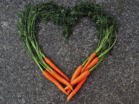 Carrot, Bio, Fresh, Heart, Carotene, Healthy, Carrots