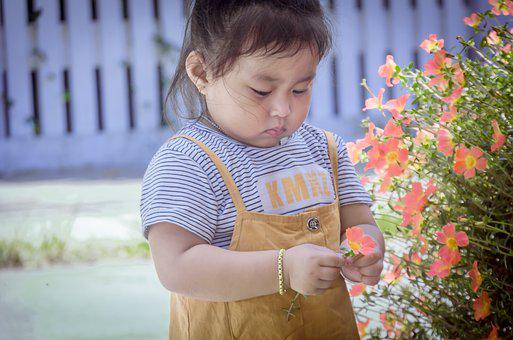 Child, Play, Flower, Cute, Lovely, Baby, Soul Course