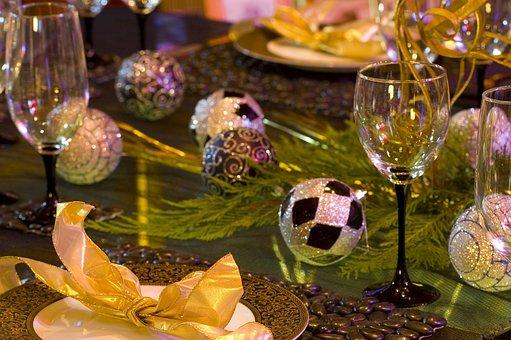 Christmas, Table Setting, Table, Celebration, Dinner