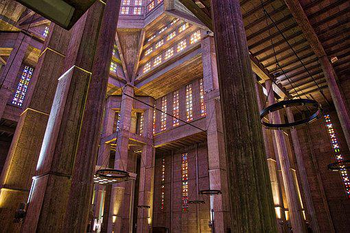 Church, Indoor, Architecture, Modern, Colourful