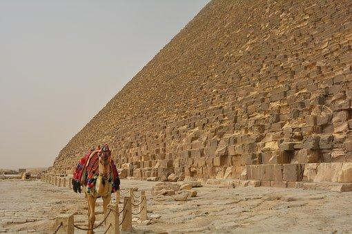 Egypt, Giza, Pyramids, Desert, Cairo, Egyptian, Stone