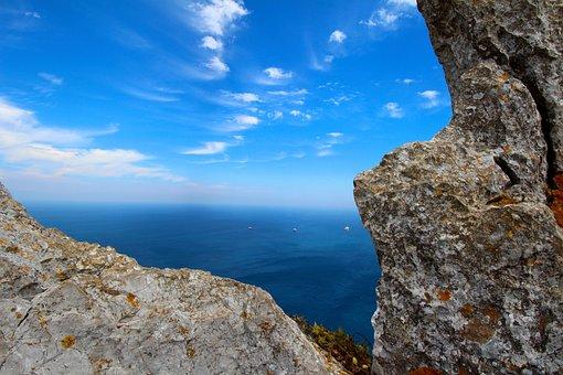 Gibraltar, Rock, England, Nature, Coast, Mediterranean